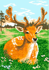 Voorbedrukt Aida Deer - Matryonin Posad    mp-0394