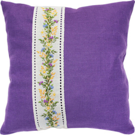 Kussenpakket Cushion Flowers Purple - Luca-S    ls-pb123