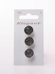 Knopen Elegant - Zilver / 663