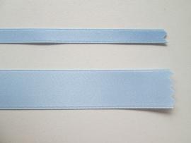 Satijnlint satin double face Deluxe  6 mm en 16 mm licht blauw 37