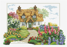 Voorbedrukt borduurpakket Foxglove Cottage - Needleart World    nw-nc640-089