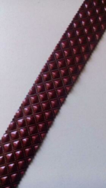 Band van leer 20 mm  / Bordeaux rood