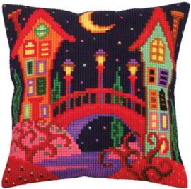 Kussen borduurpakket Bridge to Fairy Tale - Collection d'Art    cda-5257