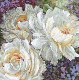 Borduurpakket White Roses - Leti Stitch    leti-0930