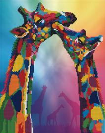 Diamond Art Giraffes - Leisure Arts    la-da03-50463
