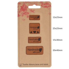 Skai-leren Labels Handmade with Love / 69650-06