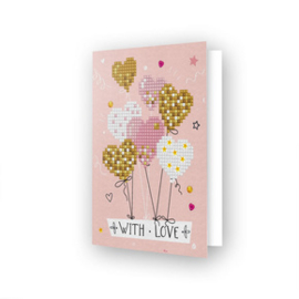 Diamond Dotz Greeting Card Love Balloons - Needleart World    nw-ddg-016