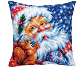Kussen borduurpakket Santa - Collection d'Art    cda-5353
