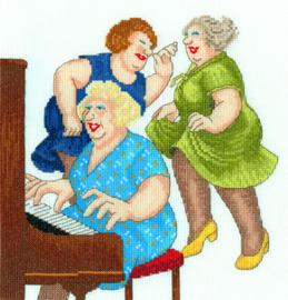 Borduurpakket Beryl Cook - Song And Dance - Bothy Threads    bt-xbc06