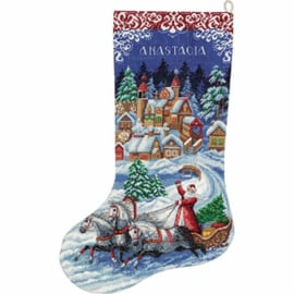 Borduurpakket Fairytale Christmas Stocking - PANNA    pan-7166-pr