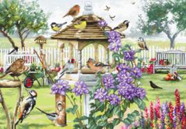 Borduurpakket Bird Table - Leti Stitch    leti-0944