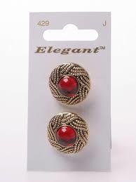 Knopen Elegant - Rood / 429