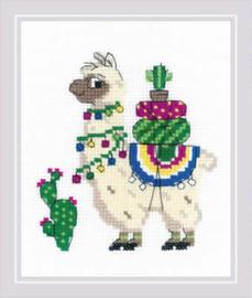 Borduurpakket Llama - RIOLIS    ri-1787