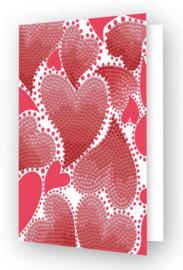 Diamond Dotz Greeting Card Hearts Swirl - Needleart World  nw-ddg-032