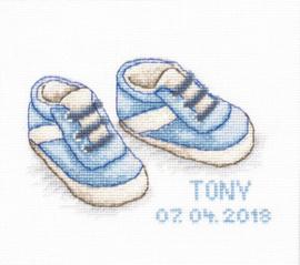 Borduurpakket Baby Shoes - Luca-S    ls-b1138