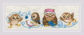 Borduurpakket The Owl Family - RIOLIS    ri-1936