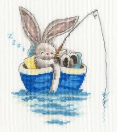 Borduurpakket Bebunni - Gone Fishing - Bothy Threads    bt-xbb17