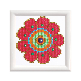 Diamond Dotz Flower Power with Frame - Needleart World    nw-dd01-008f
