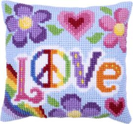Kussen borduurpakket Love Always - Needleart World   nw-lh09-002