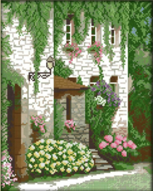Cross Stitch / Front door scenery