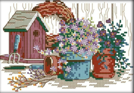 Cross Stitch / Garden corner