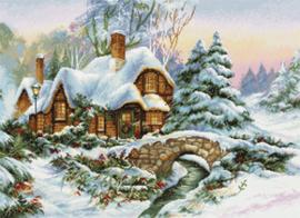 Borduurpakket Winter Landscape - Luca-S    ls-bu5001