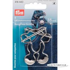 Prym Gespen voor Tuinbroeken  Zilverkleurig  416 440