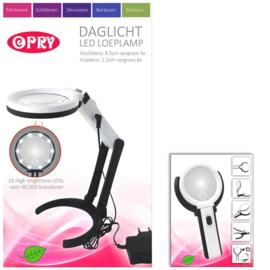 OPRY Daglicht LED Loeplamp Oplaadbaar en 8,5 cm diameter van de Lens