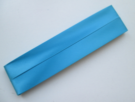 Satijn Biaisband Duchesse / Turquoise / Kleurnr. 298