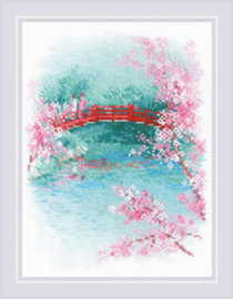 Borduurpakket Sakura - Bridge - RIOLIS    ri-1745