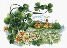 Voorbedrukt borduurpakket Scenery Clover - Needleart World    nw-nc440-063