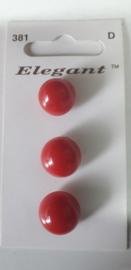 Knopen Elegant rood (381)