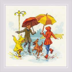 Borduurpakket There's No Bad Weather - RIOLIS    ri-1799