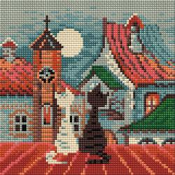 Diamond Mosaic City & Cats Spring - RIOLIS    ri-am0011