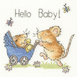Borduurpakket Margaret Sherry - Hello Baby! - Bothy Threads    bt-xgc21