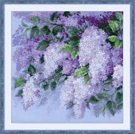 Borduurpakket Lilacs after the Rain - RIOLIS    ri-1533