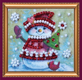 Kralen borduurpakket Winter Guest - Abris Art    aa-amm-029