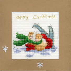 Borduurpakket Christmas Cards - Apres Ski - Bothy Threads    bt-xmas21