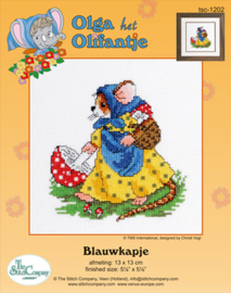 Borduurpakket Blauwkapje - The Stitch Company    tsck-1202e