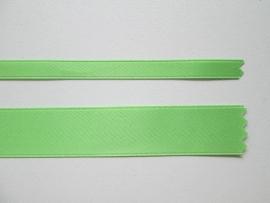 Satijnlint satin double face Deluxe  6 mm en 16 mm groen 813