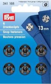 Prym Aannaaibare Drukknopen Zwart 13 mm   341 168