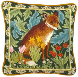 Borduurpakket William Morris - Woodland Fox Tapestry - Bothy Threads    bt-tac10