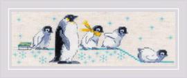 Borduurpakket Penguins - RIOLIS  ri-1975