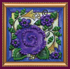 Kralen borduurpakket Flower Carpet - Abris Art    aa-amm-042