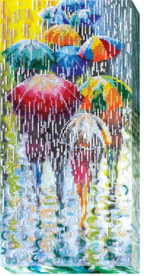 Kralen borduurpakket Cheerful Umbrellas - Abris Art    aa-ab-434