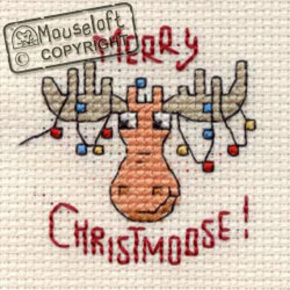 Borduurpakket Merry Christmoose - Mouseloft    ml-004-g35