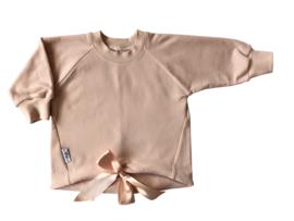 Oversized  sweater met satijnlint blossom