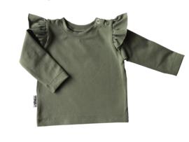 Ruffleshirt grijs groen