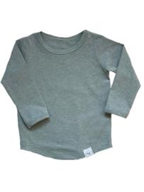 Basic shirt lichtgroen (mouwkeuze)