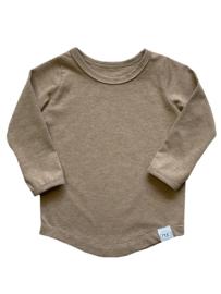Basic shirt beige (mouwkeuze)